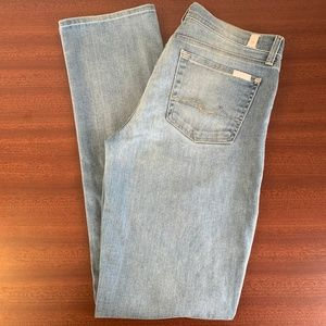 7 For All Mankind Light Wash Straight Leg